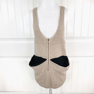 Beulah Light Brown Knit Tank Tunic or Mini Dress